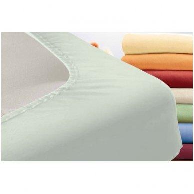 Trikotažinė paklodė su guma (šviesiai pilka) 2