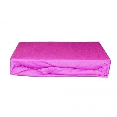 Trikotažinė paklodė su guma (Šviesiai violetinė), 200x220 cm