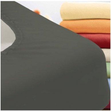 Trikotažinė paklodė su guma (grafito)