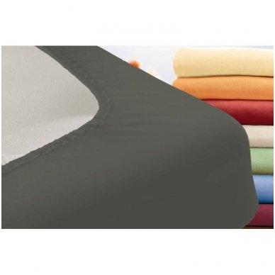 Trikotažinė paklodė su guma (grafito) 2