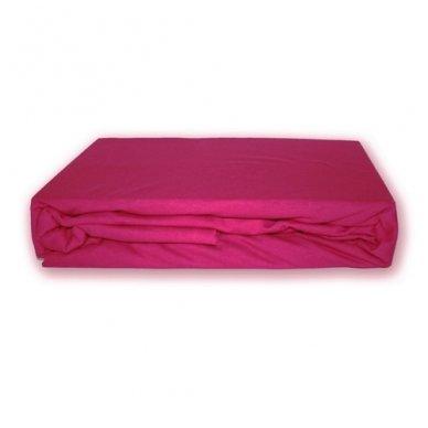 Trikotažinė paklodė su guma (Vyšninė), 200x220 cm