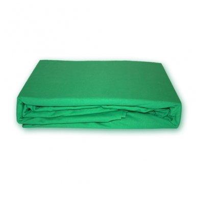 Trikotažinė paklodė su guma (Žalia), 160x200 cm
