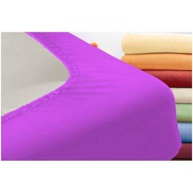 Trikotažinė paklodė su guma (violetinė) 2