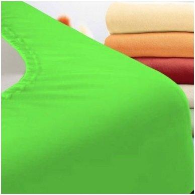 Trikotažinė paklodė su guma (žalia)