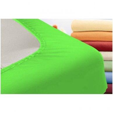 Trikotažinė paklodė su guma (žalia) 2