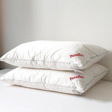 Trisluoksnė Žąsų plunksnų ir pūkų pagalvė TESSA PARADIES , 50x70 cm 4