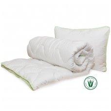 Universali antklodė Aloe vera (200x200 cm) + Pagalvė Aloe Vera (50x70 cm)