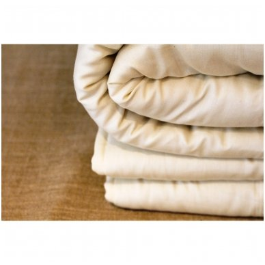Universali rankų darbo su vilnos užpildu antklodė (450 g/m²), 200x200 cm 3