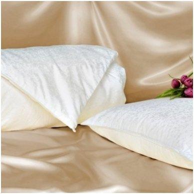 Vaikiškas natūralaus Mulberry šilko rinkinys (antklodė + pagalvė), 100x140 cm