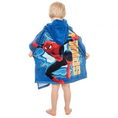 "Vaikiškas rankšluostis ""Spider Men"" (pončo) 2"