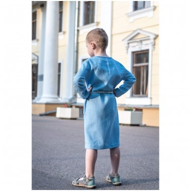 Vaikiškas medvilninis chalatas (mėlynas) 3