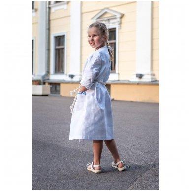 Vaikiškas medvilninis chalatas mergaitei (baltas) 2