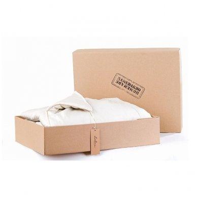 Vasarinė rankų darbo su vilnos užpildu antklodė (225 g/m²), 140x200 cm 5
