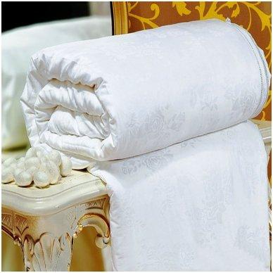 Vasarinė Tencelio antklodė su natūralaus Mulberry šilko užpildu - A klasė, 200x220 cm