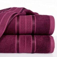 "Veliūrinis bambukinis vonios rankšluostis ""Miroko"" (ciklameno)"
