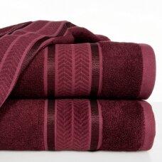 """Veliūrinis bambukinis vonios rankšluostis """"Miroko"""" (bordo)"""