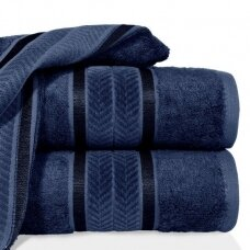 "Veliūrinis bambukinis vonios rankšluostis ""Miroko"" (tamsiai mėlyna)"