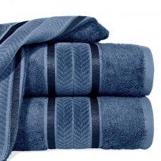 """Veliūrinis bambukinis vonios rankšluostis """"Miroko"""" (mėlyna)"""