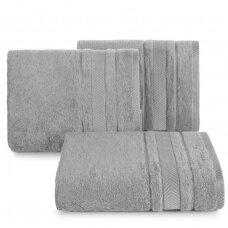 """Veliūrinis bambukinis vonios rankšluostis """"Runa"""" (plieno)"""