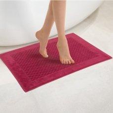 """Veliūrinis Egipto medvilnės vonios kilimėlis """"Paula"""" (raudonas)"""