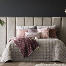 """Velveto lovos užtiesalas """"Marinel Beige"""", 250x270 cm (pilkšvai smėlinė)"""