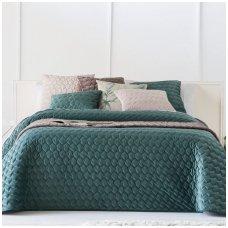 "Velveto lovos užtiesalas ""Naroa Esmeralda"", 250x270 cm (melsvai žalia)"