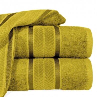 """Veliūrinis bambukinis vonios rankšluostis """"Miroko"""" (garstyčių)"""