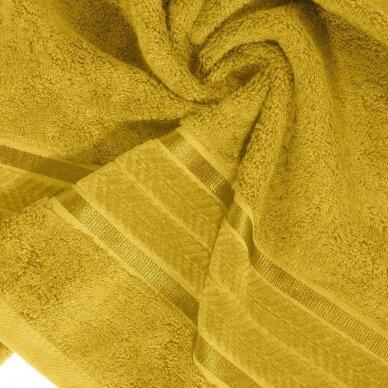 """Veliūrinis bambukinis vonios rankšluostis """"Miroko"""" (garstyčių) 2"""