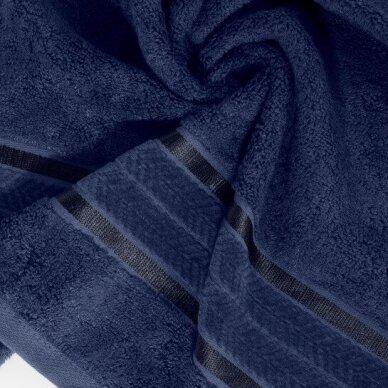"Veliūrinis bambukinis vonios rankšluostis ""Miroko"" (tamsiai mėlyna) 2"