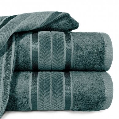 """Veliūrinis bambukinis vonios rankšluostis """"Miroko"""" (tamsi mėta)"""