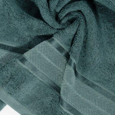 """Veliūrinis bambukinis vonios rankšluostis """"Miroko"""" (tamsi mėta) 2"""