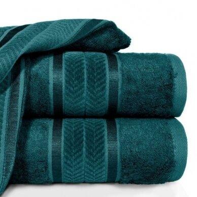 """Veliūrinis bambukinis vonios rankšluostis """"Miroko"""" (tamsiai žalia)"""