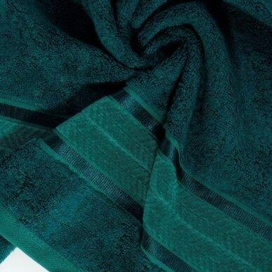 """Veliūrinis bambukinis vonios rankšluostis """"Miroko"""" (tamsiai žalia) 2"""