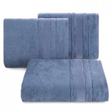 """Veliūrinis bambukinis vonios rankšluostis """"Runa"""" (mėlyna)"""