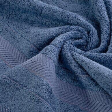 """Veliūrinis bambukinis vonios rankšluostis """"Runa"""" (mėlyna) 2"""