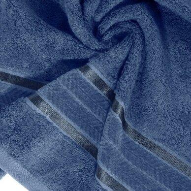 """Veliūrinis bambukinis vonios rankšluostis """"Miroko"""" (mėlyna) 2"""