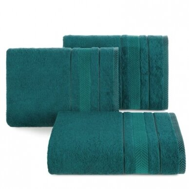 """Veliūrinis bambukinis vonios rankšluostis """"Runa"""" (tamsaus turkio)"""