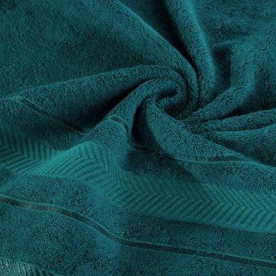 """Veliūrinis bambukinis vonios rankšluostis """"Runa"""" (tamsaus turkio) 2"""
