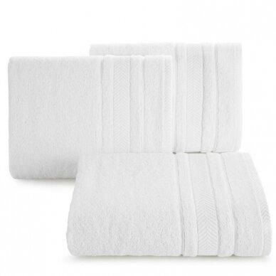 """Veliūrinis bambukinis vonios rankšluostis """"Runa"""" (balta)"""