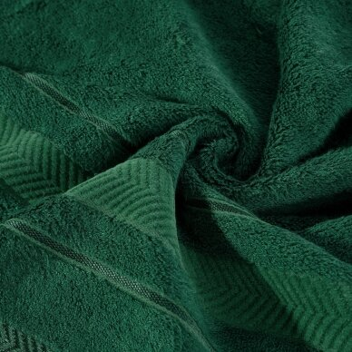 """Veliūrinis bambukinis vonios rankšluostis """"Runa"""" (tamsiai žalia) 2"""