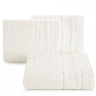 """Veliūrinis bambukinis vonios rankšluostis """"Runa"""" (kreminė)"""