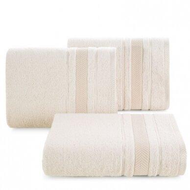 """Veliūrinis bambukinis vonios rankšluostis """"Runa"""" (rusva)"""