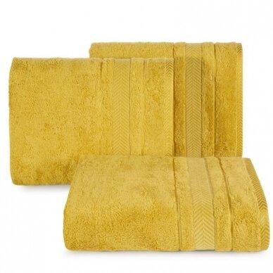 """Veliūrinis bambukinis vonios rankšluostis """"Runa"""" (garstyčių)"""