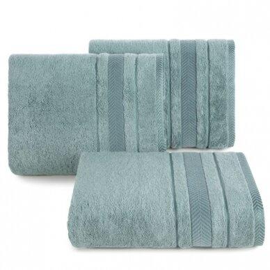 """Veliūrinis bambukinis vonios rankšluostis """"Runa"""" (tamsi mėta)"""