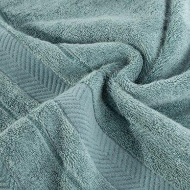 """Veliūrinis bambukinis vonios rankšluostis """"Runa"""" (tamsi mėta) 2"""