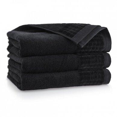 "Veliūrinis Egipto medvilnės rankšluostis ""Karla"" (juodas)"