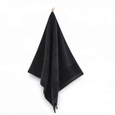 "Veliūrinis Egipto medvilnės rankšluostis ""Karla"" (juodas) 2"