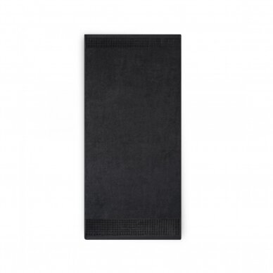 "Veliūrinis Egipto medvilnės rankšluostis ""Karla"" (juodas) 3"