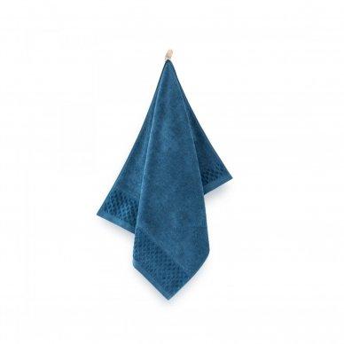 """Veliūrinis Egipto medvilnės rankšluostis """"Karla"""" (mėlynas) 2"""