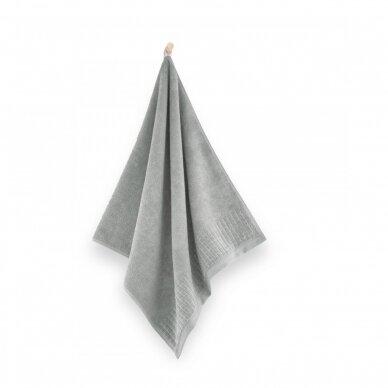 """Veliūrinis Egipto medvilnės rankšluostis """"Karla"""" (šviesiai pilkas) 2"""